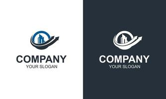 Real Estate Business Logo Templates, Building, Property Development and Vector Logo Design
