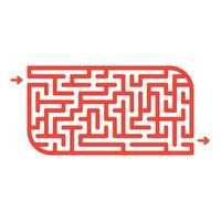 Abstact labyrinth. Game for kids. Puzzle for children. Maze conundrum. Color vector illustration.