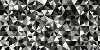 Geometric pattern triangle shape luxury of black,white gray elegant background with golden line vector