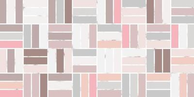 Abstract geometric seamless rectangle pattern of pink pastel color with marble line vector