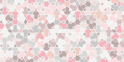 Abstract geometric seamless pattern pastel color with marble line elegant background vector
