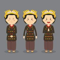Middle Sulawesi Character with Various Expression vector