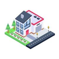 Modern Home and Residence vector