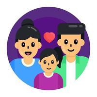 los padres aman y se unen vector