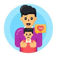 Father Love Affection vector
