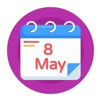 recordatorio de fecha y calendario vector