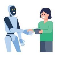 configuraciones y ajustes robóticos vector