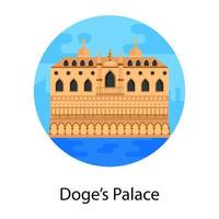 Doge Palace Landmark vector