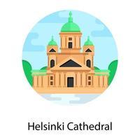 Helsinki Cathedral Landmark vector