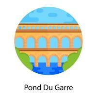 Pont du Garre vector