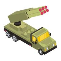 Missile Carrier  truck vector