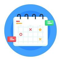 planificador de negocios y calendario vector