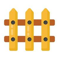 Wooden Fence and Barrier vector