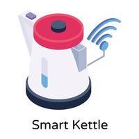 Electric Smart Kettle vector