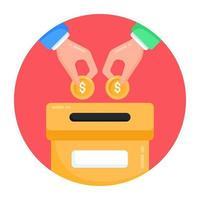 Donation and Money Box vector