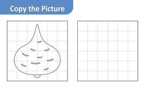Copy the picture worksheet for kids, jicama vector