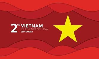ola de papel del día de la independencia de vietnam vector