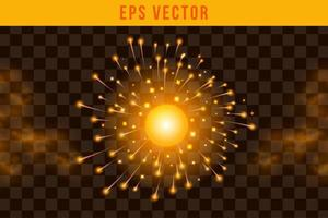 Set fire effect EPS Vector glow object illuminated isolated