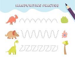 Handwriting practice for preschool children vector