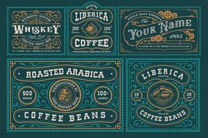 Vintage labels bundle vector