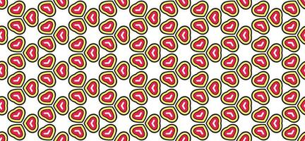 Hearts bright colors pattern background and wallpaper vector illustration