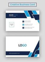 Business Card, Modern Business Card Template with Photo, Minimalist and Clean Business Card, Visiting Card vector