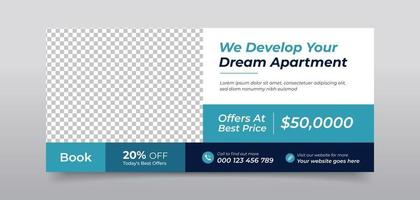 Real estate agency home sale social media cover template vector