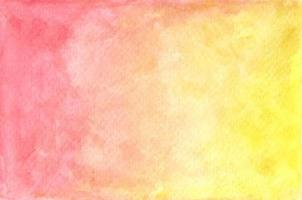 Hand drawn watercolor pastel red and yellow painted texture. Abstract Background. vector