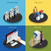 Elections Concept Icons Set Vector Illustration