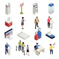 Elections Icons Set Vector Illustration