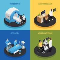 Neurology Concept Icons Set Vector Illustration