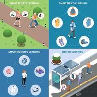 Wearable Technologies Design Concept Vector Illustration