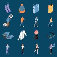 Smart Clothes Icon Set Vector Illustration