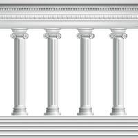 Ilustración de vector de columnas antiguas realistas