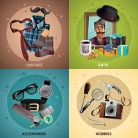 Fathers Day Design Concept Vector Illustration