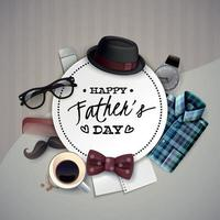 Fathers Day Frame Composition Vector Illustration