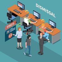 Social Score Dismissal Composition Vector Illustration