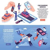 Car Sharing Banners Vector Illustration