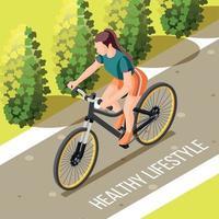 Healthy Lifestyle Isometric Illustration Vector Illustration