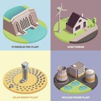 Green Energy Isometric  Concept Vector Illustration