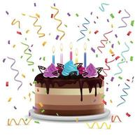 Birthday Cake Realistic Design Concept Vector Illustration