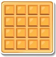 Square waffle sticker on white background vector