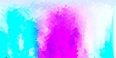 papel tapiz poligonal geométrico rosa claro, azul vector. vector