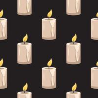 Seamless pattern with candles. Halloween print and party decoration vector