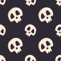 seamless pattern with skulls and crossbones for  halloween vector