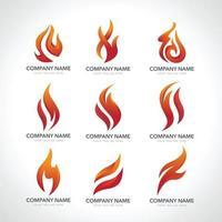 set of logo flame vector