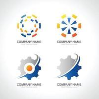 set of logo gear vector