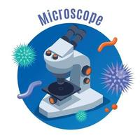 Microbiology isometric Background Vector Illustration