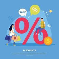 Great Sale Flat Background Vector Illustration