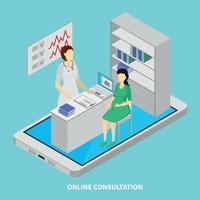Mobile Medicine Concept Vector Illustration